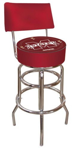 NCAA Mississippi State University Padded Swivel Bar Stool with Back by Trademark Gameroom