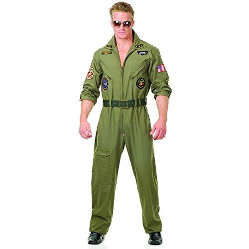 Plus Size Top Gun Costumes (Wing Man Adult Costume - Large)