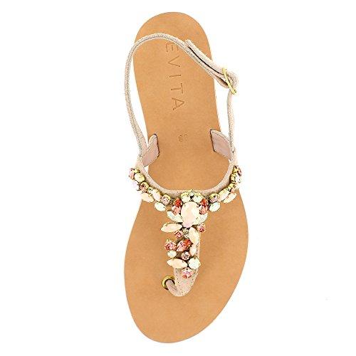 Evita Femme Shoes Drrwqcp Rose Greta Sandale Daim fy6b7gYv