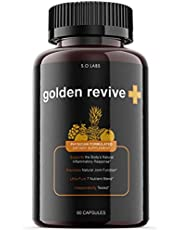 Golden Revive Plus Pills Gold Goldenreviveplus Goldenrevive Supplement Capsules for Inflammation Healing (1 Pack)