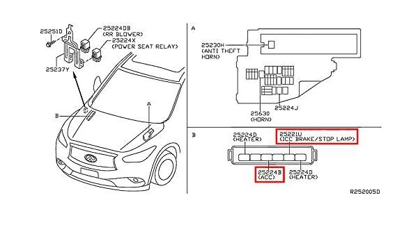 Amazon.com: Infiniti 25230-79917, A/C Clutch Relay: Automotive on