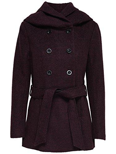 Only Onlmary Lisa Short Wool Coat Cc Otw, Chaqueta para Mujer Rojo (Port Royale Detail:melange)