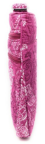 Triple With Bag Hipster Interior Paisley Cross Pink Vera Body Bradley Zip Stamped nYqSfw5z