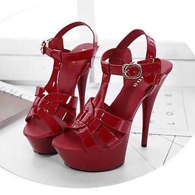 LvYuan Mujer-Tacón Cuña Tacón Stiletto-Innovador Gladiador Zapatos del club Confort-Sandalias-Boda Exterior Oficina y Trabajo Vestido Informal Red