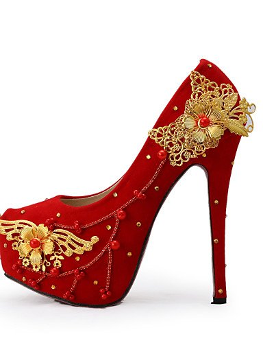 GGX/Damen Schuhe Stiletto Heel Heels Heels Hochzeit/Party & Abend/Kleid Rot 5in & over-us5.5 / eu36 / uk3.5 / cn35