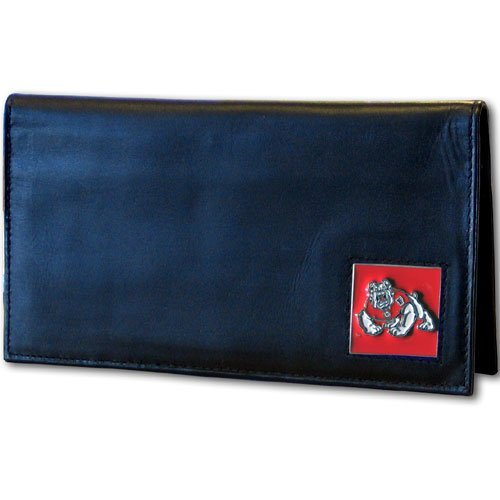 (Siskiyou NCAA Fresno State Bulldogs Leather Checkbook Cover)