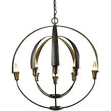 Amazon hubbardton forge hubbardton forge 104205 10 no double cirque chandelier 254 x 254 aloadofball Image collections