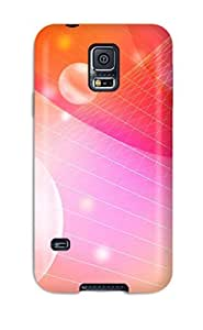Unique Design Galaxy S5 Durable Tpu Case Cover Bubbles And Waves