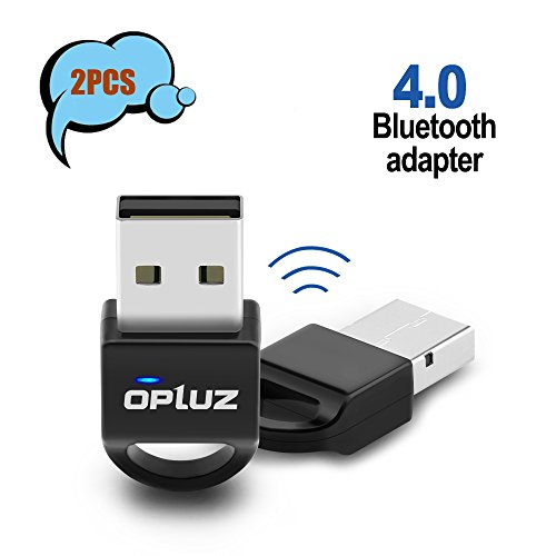Bluetooth4.0 Adapter 2Pack, Opluz Low Energy Bluetooth Printer Network Adapter for Bluetooth Projector&PC, Bluetooth Speaker, Smartphone & Tablet  from Opluz