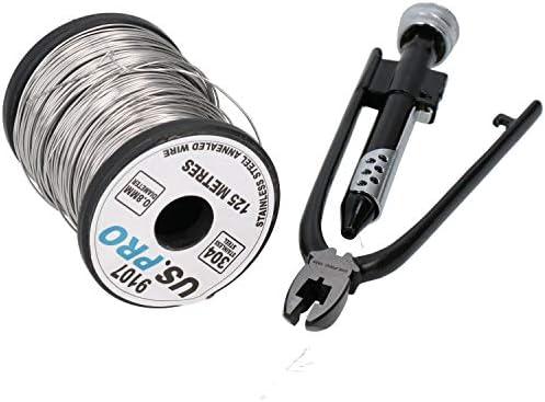 125 Metres 0.8mm Stainless Steel Wire Lock Wire Lockwire Twist Twisting Pliers