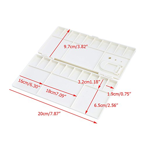 Kocome 25 Grids Large Art Paint Tray Artist Oil Watercolor Plastic Palette White by Kocome (Image #8)