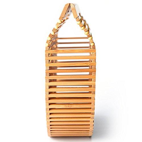 Vintga Bamboo Handmade Women��s Tote Beads Jade Handbag Bag Beach RvrRan