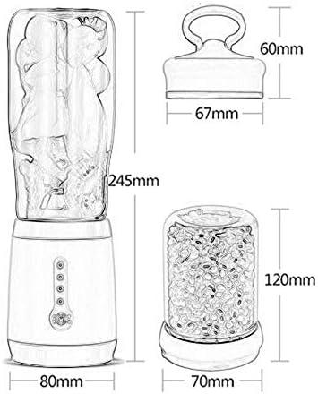 Mryishao Exprimidor de cocina 500ml 2-en-1 Fabricante de jugo eléctrico Mini taza portátil Jugo Máquina de molienda Máquina de cocina casera