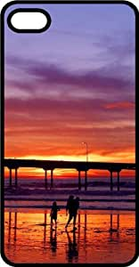 Pier One At Breaking Dawn Black Rubber Case for Apple iPhone 4 or iPhone 4s