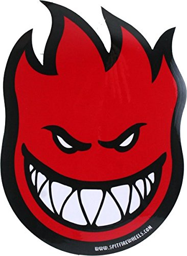 Spitfire Fireball Lg DECAL - Single - Assorted Colors (colors will vary: Red, Blue. Green, etc)