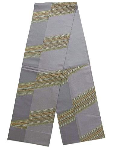 賄賂ガロン上院議員リサイクル 袋帯 斜め縞 正絹 六通柄