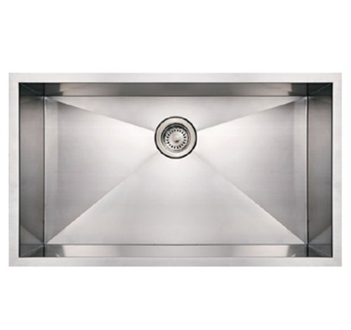 Whitehaus WHNCM3219-BSS Noah's Collection 32-Inch Commercial Single Bowl Undermount Sink by Whitehaus Collection ()