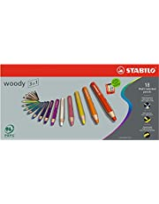 Stabilo® Woody 3 in 1, 18-Color Set