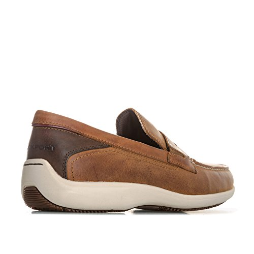 Lett I Trutech Gir Menns Aiden Sjokk Brown Rock Loafers Absorption Penny w8IAUfq