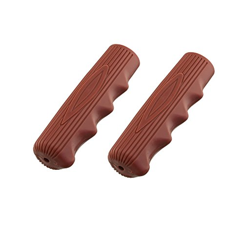 Kraton Rubber 212 Solid Color Bike Grips, Various Colors (Brown)