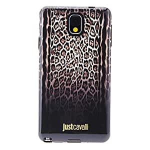 HP DFGradient Ramp Brown Leopard Skin Pattern Soft Anti-Shock Back Case Cover for Samsung Galaxy Note3 N9000