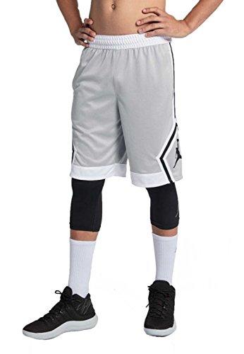 NIKE Mens Jordan Rise Diamond Basketball Shorts Wolf Grey/White 887438-012 Size X-Large