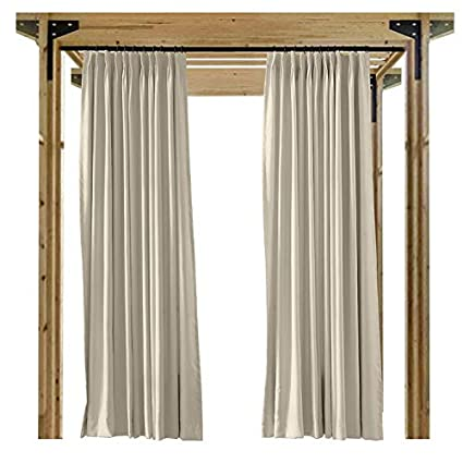 Amazon.com: Cololeaf Cortinas de interior y exterior para ...
