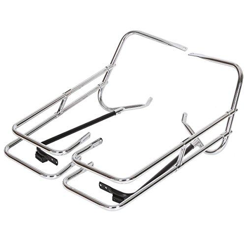 Chrome Saddle Bag Guard Rail Bracket For Harley Touring FLHR FLHT FLHTCUSE - Support Bars Saddlebag