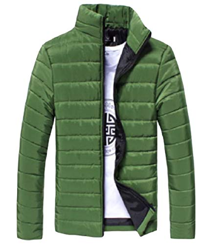 Blackish Down Zip Color Pure Green Howme Warm Stand Long Men Jacket Fitness Collar Sleeve q0f7U