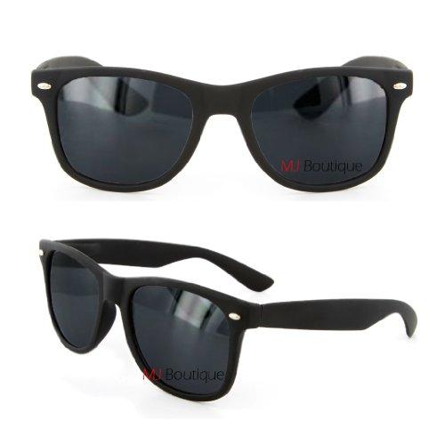 Retro Horned Rimmed Retro Classic Sunglasses Dark Lens (Flat-Black/Dark, - Sunglasses For Drivers Truck