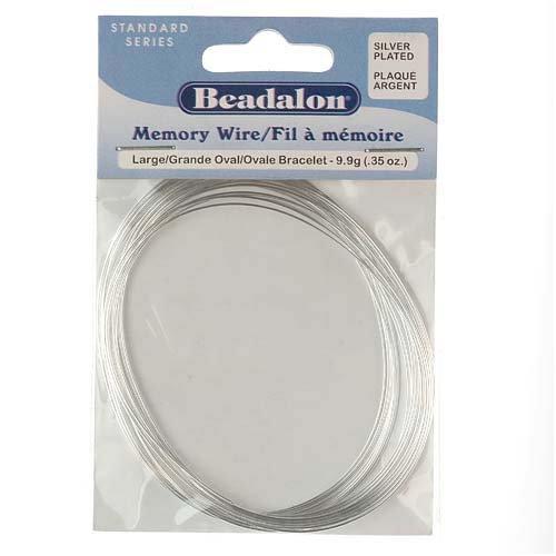 (Beadalon Large Bracelet Memory Wire Silver Plated 20 Loop)