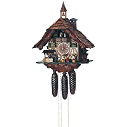 Schneider 19 Black Forest Chalet Cuckoo Clock with Four Beer Drinkers