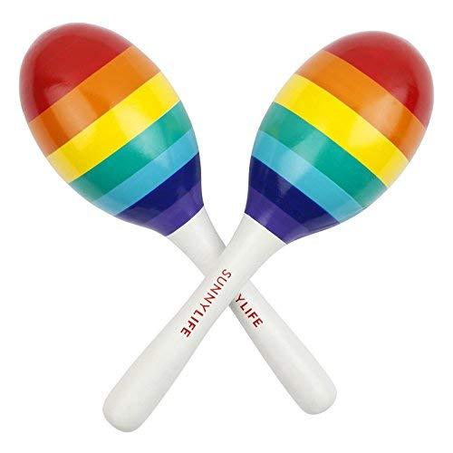 Festive Maraca - SunnyLife Women's Rainbow Maracas Set of Two, Rainbow, One Size