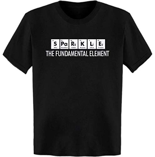 - Sparkle The Fundamental Element Periodic Table T-Shirt Black