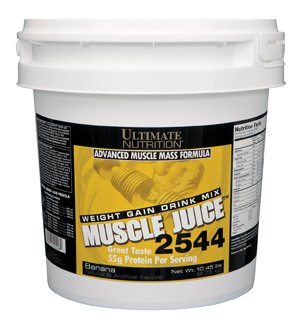 Ultimate Nutrition Muscle Juice - 2544 Weight & Mass Gainer (Banana, 10.45lb) by Ultimate Nutrition