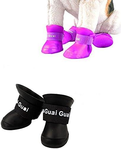 Botas De Nieve Perro Zapatos Suaves Felpa Botas De La Parte Superior De Los Botines Antideslizantes Antideslizante Calza Botas para Perros Peque/ños