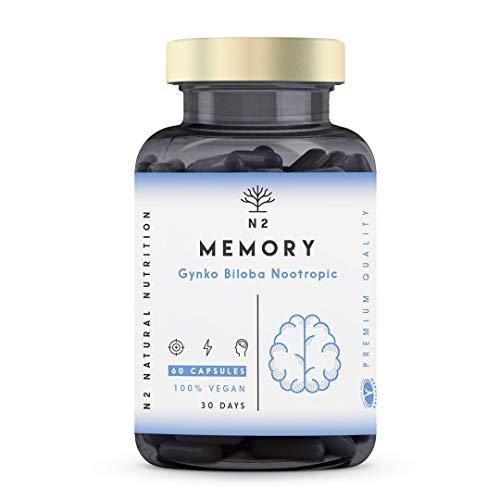 Nootropique Puissant Stimulant Cérébral. Caféine Bacopa Ginko Biloba Nootropics Brain Boost. Améliore Concentration…