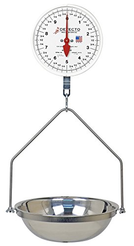 Detecto MCS-40DF Hanging Dial Scale, 40 lb. Capacity, Fish Pan, Double (Mechanical Hanging Dial Scale)