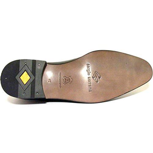 Negro P SERGIO Cuero Cordon SERRANO Zapato xwzW40qvf
