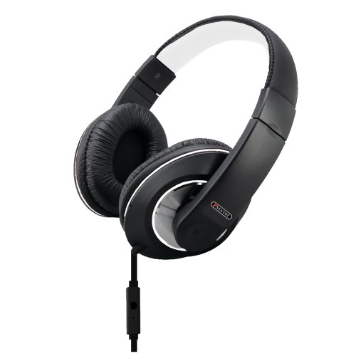 Sentry Industries Inc. HM961 Deep Bass Stereo Headphones with Mic, White (Head Over The Headphones Sentry)