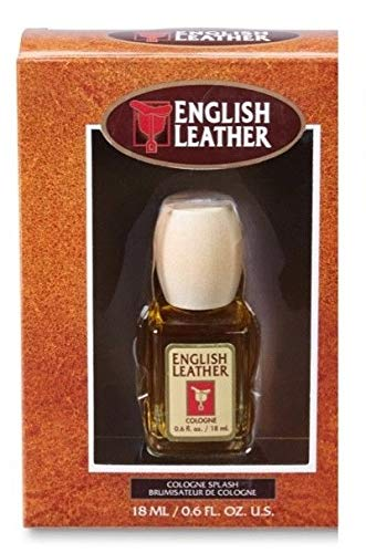 (Dana English Leather Mini Cologne Splash for Men, 0.6 Ounce / 18)