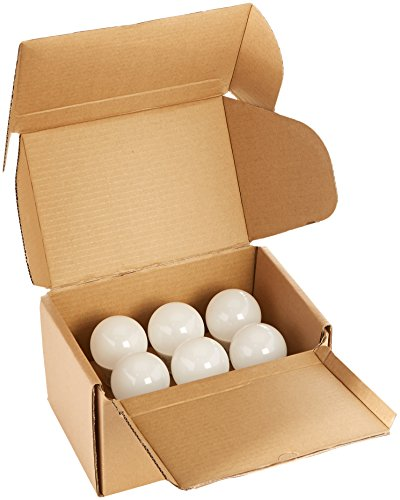 AmazonBasics 60 Watt Equivalent, Soft White, Non-Dimmable, 15,000 Hour Lifetime, A19 LED Light Bulb | 6-Pack