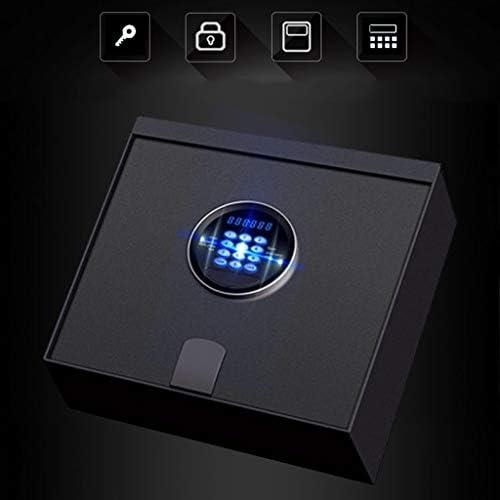 パーツボックス 安全なスマートフリップ安全な安全な引き出し見えない安全なスモールミニ収納ボックスの家庭用商用金庫 (Color : Black, Size : 32.4*32.4*11.4cm)