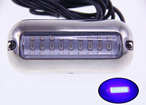 Pactrade Marine Pontoon Boat  27 LED Underwater Light S.S 316 Housing 3.6 w, Blue by Pactrade Marine