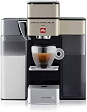 Illy Y5 Milk 60138 Bluetooth capsulemachine Iperespresso - koffiezetapparaat met melkopschuimer - espresso & koffie - 0,9 L - 1250 W - Satin - Dash Replenishment Service (DRS)