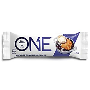 ONE Protein Bar, Blueberry Cobbler, 20g Protein, 1g Sugar, 12-Pack (packaging may vary)