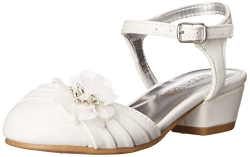 Kenneth Cole Reaction Belle Flower-T Dress Shoe (Toddler/Little Kid), White, 10 M US Toddler