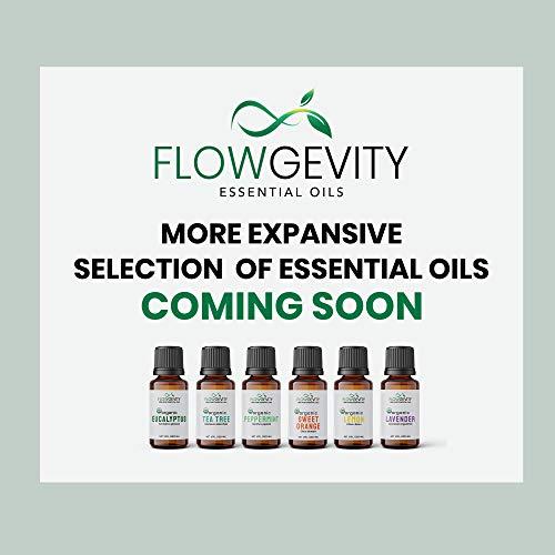 Lavender Essential Oil Organic for Diffuser, 100% Pure - USDA Organic Essential Oils Undiluted, Natural, Non-GMO, Therapeutic Grade for Aromatherapy   Lavandula Angustifolia, 10 ml
