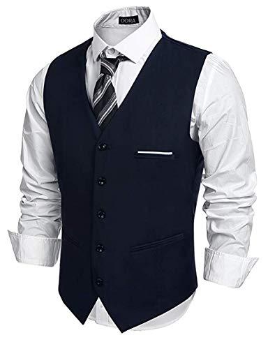 00RA WITH AS LOGO Men Slim Fit Cotton Blend Waistcoat Half Jacket