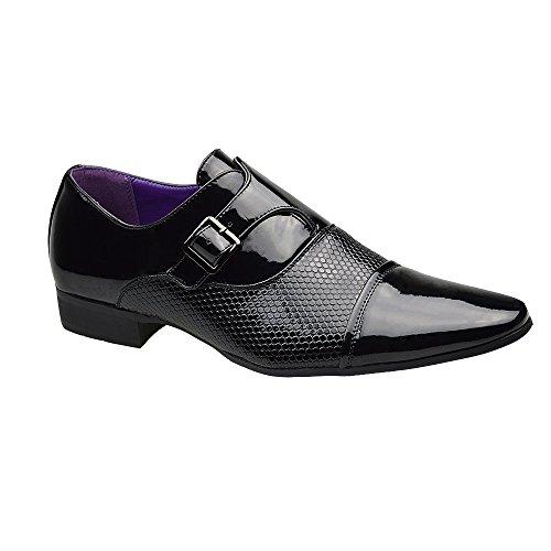 formale inglese stile Scarpe o di 7 10 marrone da fibbia 8 Nero uomo numero informale con nero 11 color 9 6 c8WBxAq78w
